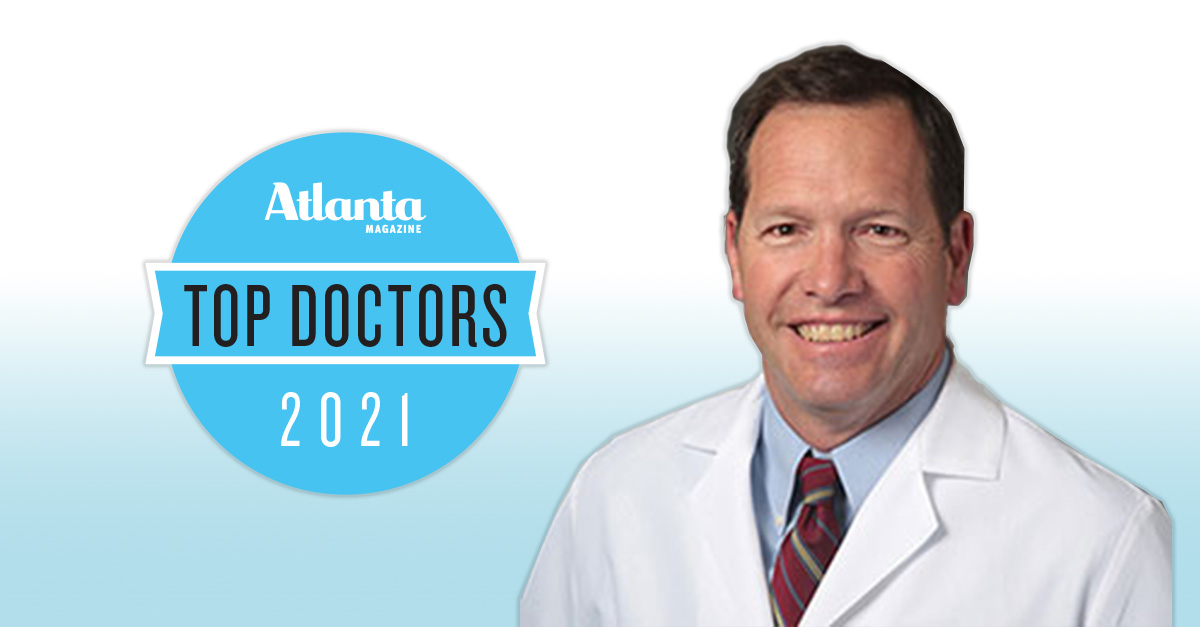 Dr. George Brown awarded as one of Atlanta magazine's Top Doctors.
